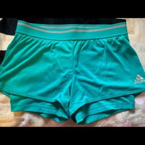 Adidas climachill shorts with tights attached